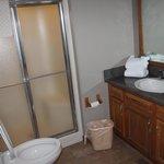 shower & tub in bathroom