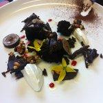 fig, chocolate, yogurt