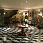 Beautiful lobby with Murano Crystal everywhere.