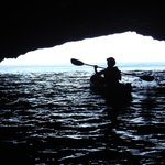 Cave at Santa Cruz Island. (Yep, that's me!)