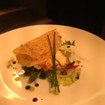 Pan Fried Halloumi Salad, Parmasane Crisp
