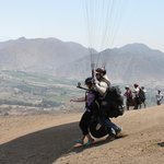 Paragliding launch at Pachacamac