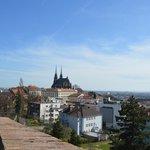 Вид на Брно от замка Шпилберк.