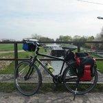 Am Canal Rhone-au-Rhin, den ich von Strasbourg bis Marckolsheim gefahren bin