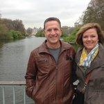 John & Stephanie Norris Enjoying a Spring Morning in Hyde Park  London