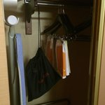 Closet space and laundry service