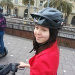 Safety first - have helmet and some space on segway to leave things