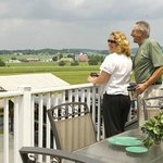 Enjoy your morning coffee on the porch at The Grand View Suite!