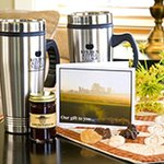 Take home travel mugs for all lodging guests