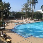 Nice pool- shame it was freezing cold!