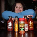 Iva and the chopice of sauces and dips