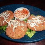 Fried green tomatoes - typical appetizer