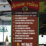 Senor Frogs House Rules