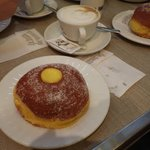 Beautiful pastries and cappucinos