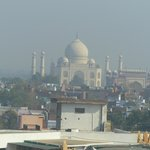 View of the Taj Mahal from the room