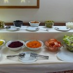 Selection of fresh salads from the dinner buffet