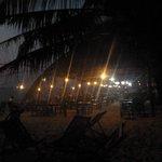 diner au restaurant de la plage