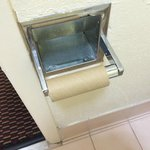 Empty toilet paper holder