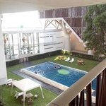 Pool and front desk