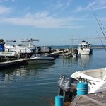 Section of marina where boaters can store their boats on the water. Beautiful waters.