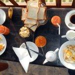 Early breakfast served on th ebalcony