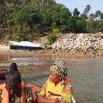 le voyage à la villa en bateau 20mn