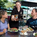 Outdoor Dining with Friendly Service