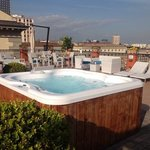 cool rooftop with a jacuzzi!