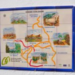 mosaico con mapa de la zona