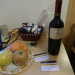 our complimentary wine, fruit and breakfast voucher