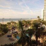 View from breakfast in hotel restaurant