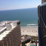 View from our room on the 23rd floor