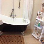 The free standing bath.
