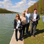 Our happy group with our guide Stephane (in suit) at the Palace of Versailles on April 5, 2014
