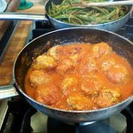 Ricotta filled meatballs