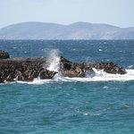 Blick vom Küstenweg auf das Mittelmeer