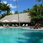 la piscine et le restaurant du midi