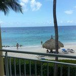 View from our beachfront room - room 242