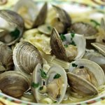 Littleneck Clams over Linguini
