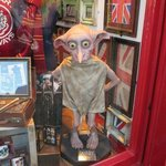 Dobby at a shop's display in Oxford.