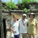 Sian Ka'an ruins with Jerry