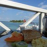 Breakfast on the deck of Regency