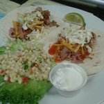 BBQ Tacos with a cruncy corn salad