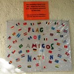 Flags of all the nations that have stayed at Amigos Hostel Cozumel. Is your flag here?