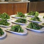Simple, elegant greens with fresh herbs