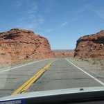 scenic road in Monument Valley