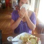 Tori stuffing her face