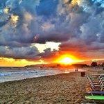 Sunrise on Malia Beach