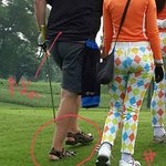 The Caddy dressed well but see that European player ???