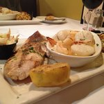 Broiled seafood plate